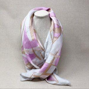 Vintage Silk Hair Scarf by Glentex, Lavender Print